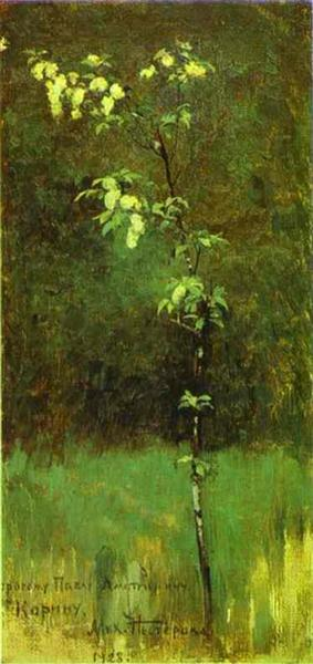 A Tree in Blossom, 1890 - Mikhail Nesterov