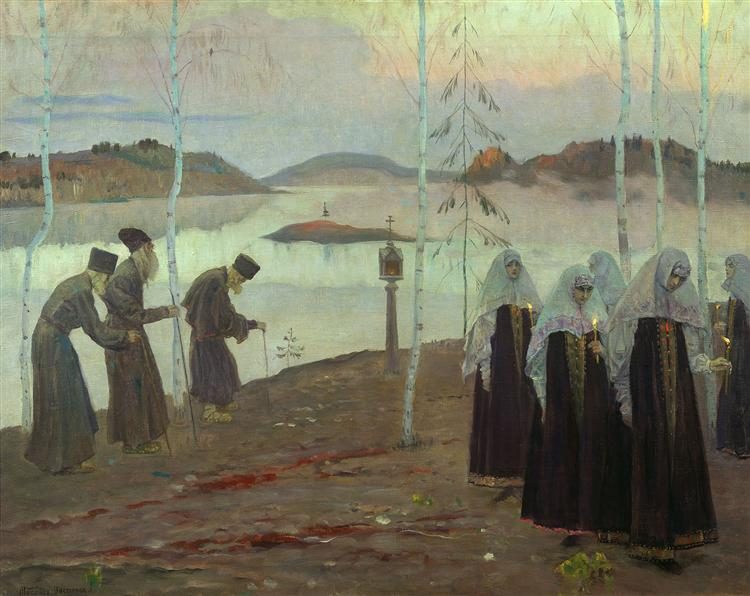 Hermit fathers and immaculate women, 1932 - Mikhail Nesterov