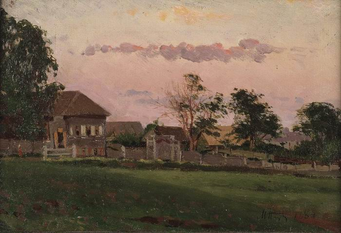 Small house in Ufa, 1884 - Mikhail Nesterov