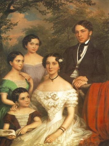 The Family Dégenfeld, 1854 - Miklós Barabás