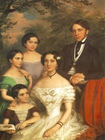 The Family Dégenfeld - Miklós Barabás