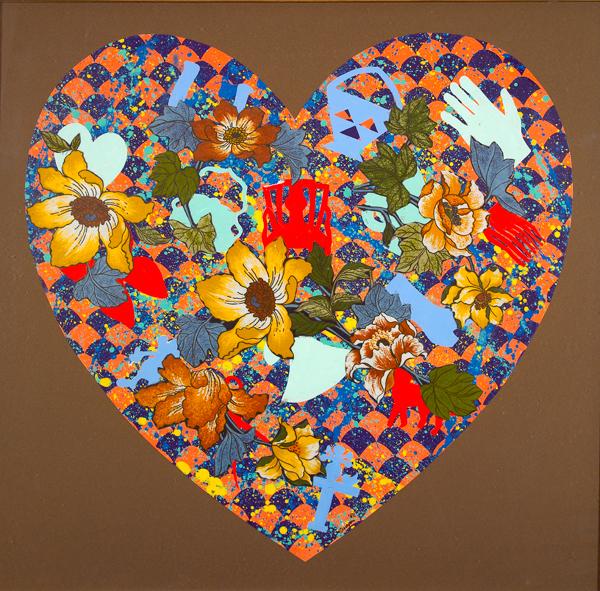 Our Stenciled Heart, 2008 - Miriam Schapiro