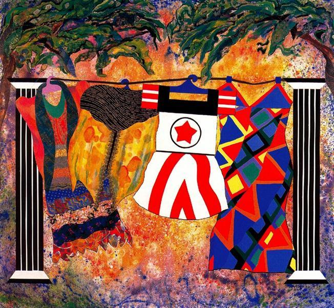 Yard Sale, 1993 - Miriam Schapiro