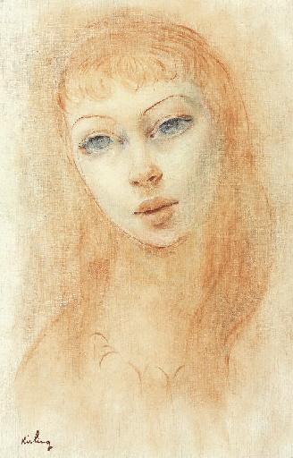 Female portrait - Moise Kisling