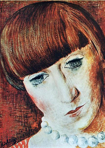 Portrait of Renee Kisling - Moise Kisling