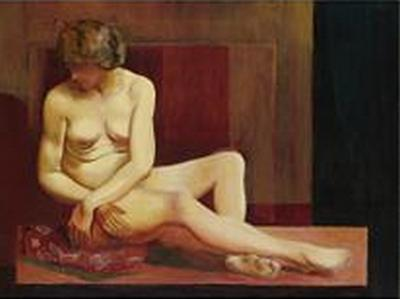 Sitting nude, 1923 - Moise Kisling