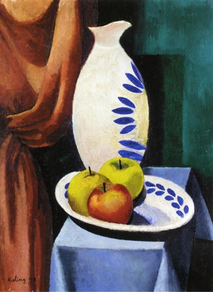 Still life with white pitcher, 1917 - Moise Kisling
