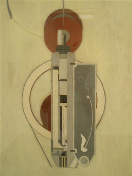 Painting VIII (Mechanical Abstraction), 1916 - Morton Shamberg