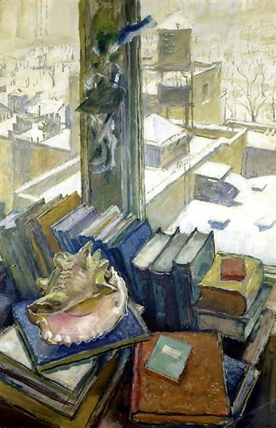 New York Rooftops, My Windows in New York, 1943 - Mstislav Dobuzhinsky