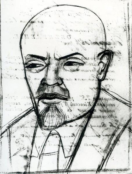 Portrait of Vladimir Lenin, 1919 - Mykhailo Boychuk