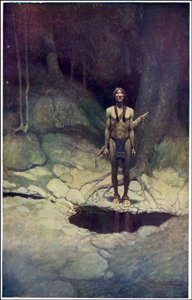 Painting of Native American, 1907 - N.C. Wyeth