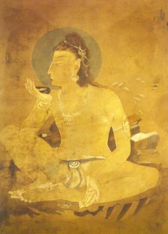 Siva drinking World Poison - Nandalal Bose