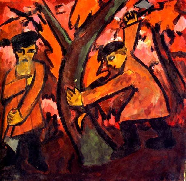 Woodcutters, 1911 - Natalia Goncharova