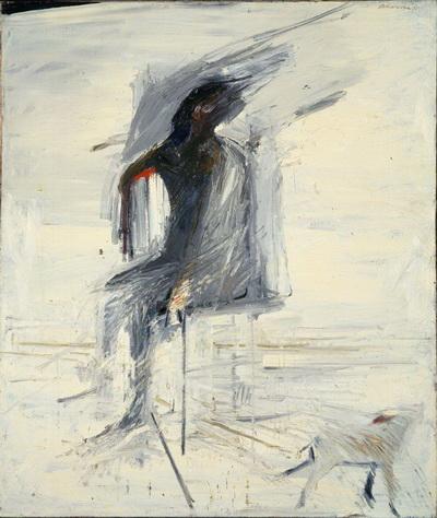 Seated Man with Dog, 1957 - Nathan Oliveira