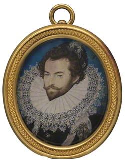 Sir Walter Ralegh, 1585 - Nicholas Hilliard