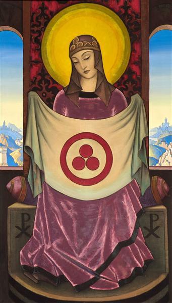 Madonna Oriflamma, 1932 - Nicholas Roerich