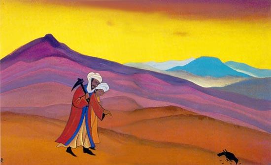 Shirin and Khosrau, 1938 - Nicholas Roerich