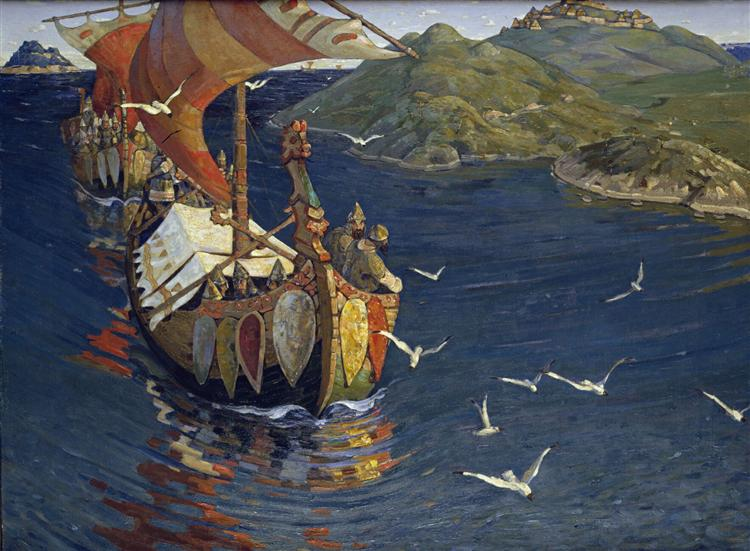 Visitors from over the sea, 1901 - Nicolas Roerich