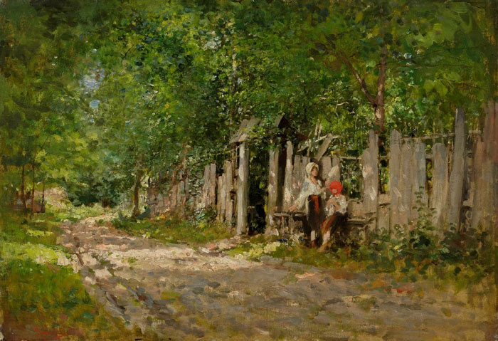 Girls Working by the Gate, 1885 - Nicolae Grigorescu
