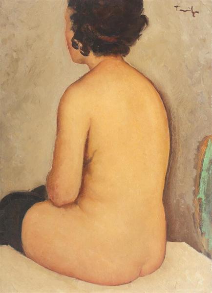 Back Nude, 1929 - Николае Тоница