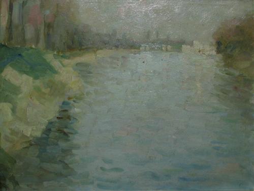 Seine at Courbevoie, 1910 - Nicolae Tonitza