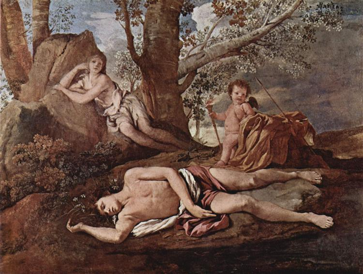 Echo and Narcissus, c.1629 - 1630 - Nicolas Poussin