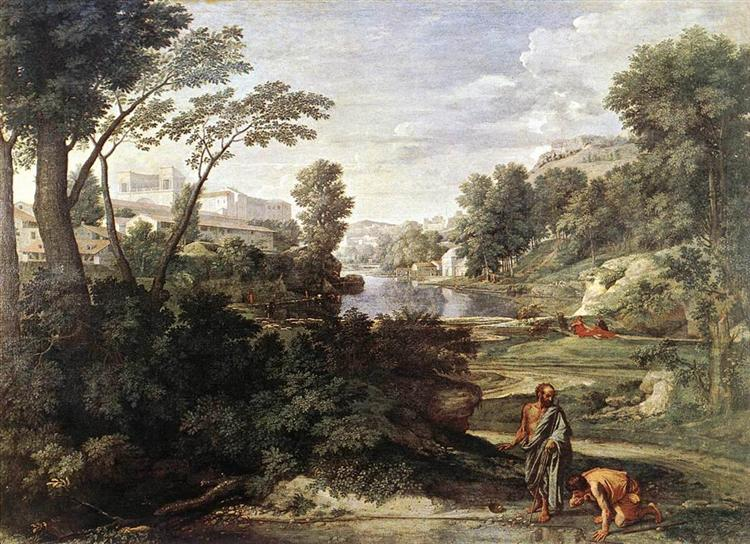 Landscape with Diogenes, c.1647 - Ніколя Пуссен