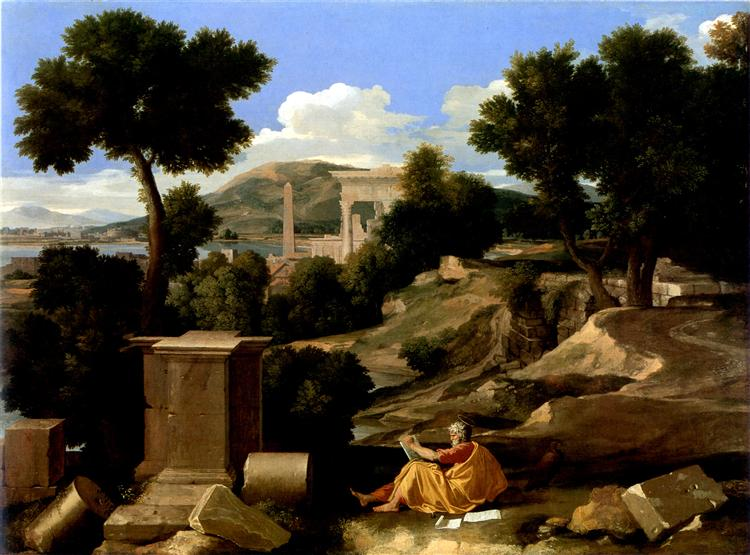 Landscape with St. James in Patmos, 1640 - Nicolas Poussin