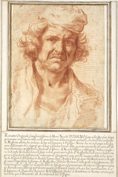Self-portrait of Nicolas Poussin from 1630, while recovering from a serious illness, 1630 - Nicolas Poussin