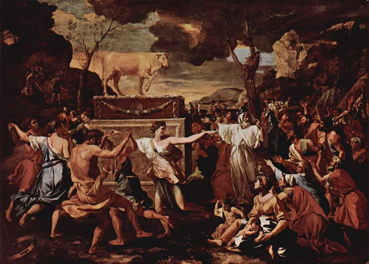 The Adoration of the Golden Calf, 1634 - Nicolas Poussin