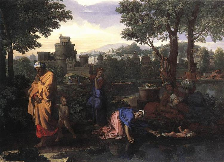 The Exposition of Moses, c.1650 - Ніколя Пуссен