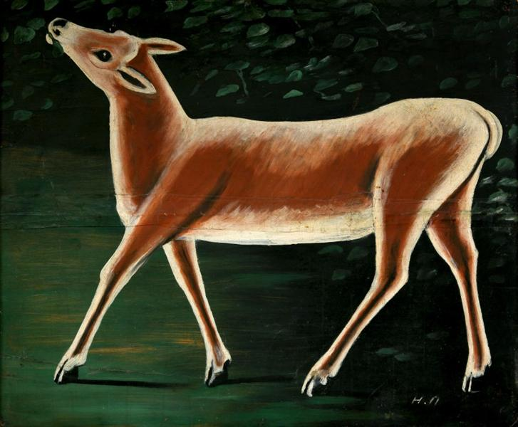 Famous Running Deer Painting