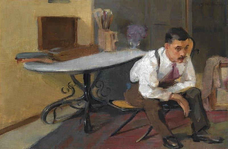 The Artist in his Studio - Nikolaos Lytras