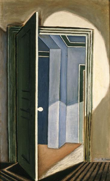 The open door, 1927 - Nikos Hadjikyriakos-Ghikas