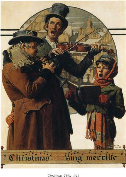Christmas Trio, 1923 - Norman Rockwell