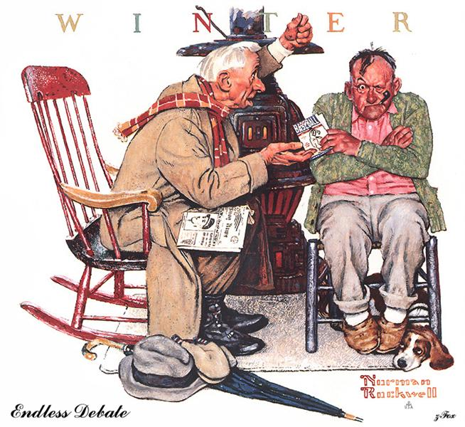 Endless Debate - Norman Rockwell