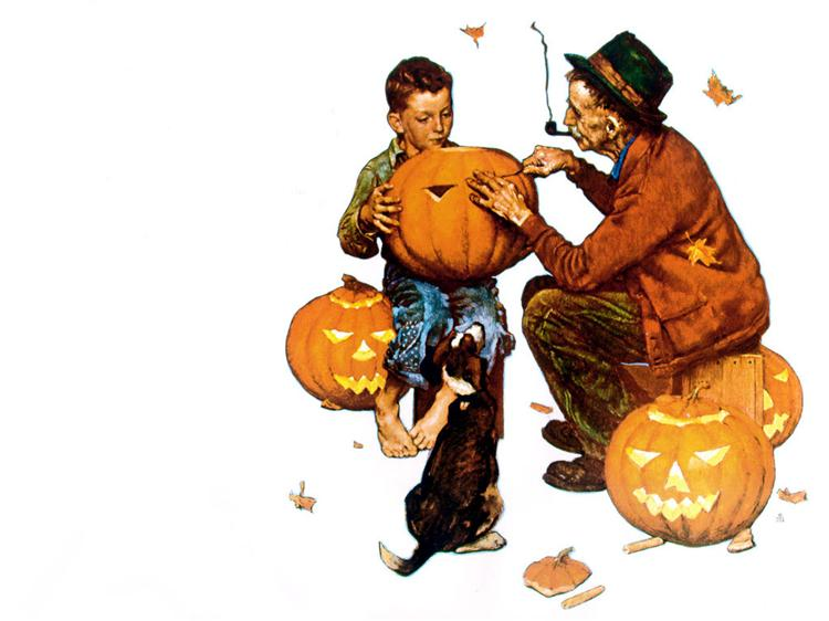 Ghostly gourds, 1969 - Norman Rockwell