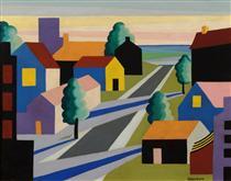 Houses and Street - O. Louis Guglielmi