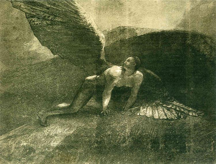 Fallen Angel, 1872 - Odilon Redon