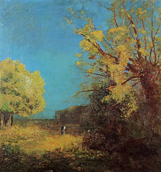 Peyrelebade Landscape, 1880 - Odilon Redon