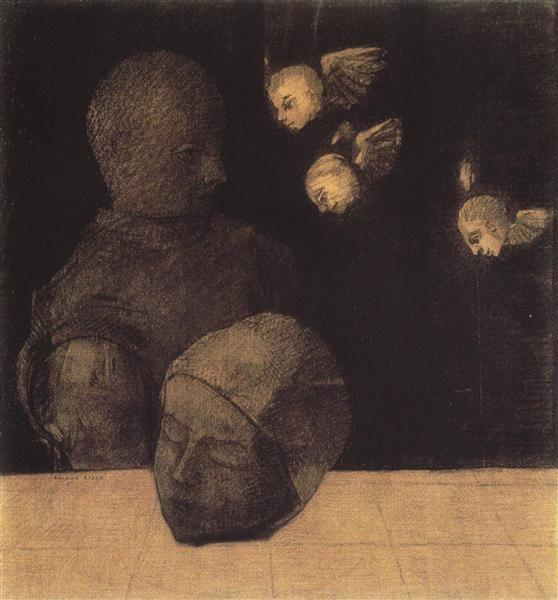 Severed head, 1878 - Odilon Redon
