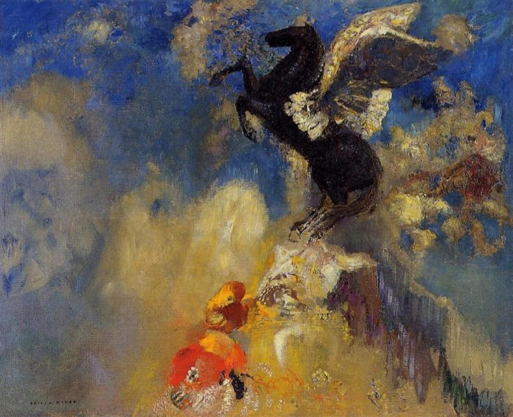 The Black Pegasus - Odilon Redon
