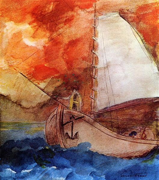 The Boat, c.1900 - Odilon Redon