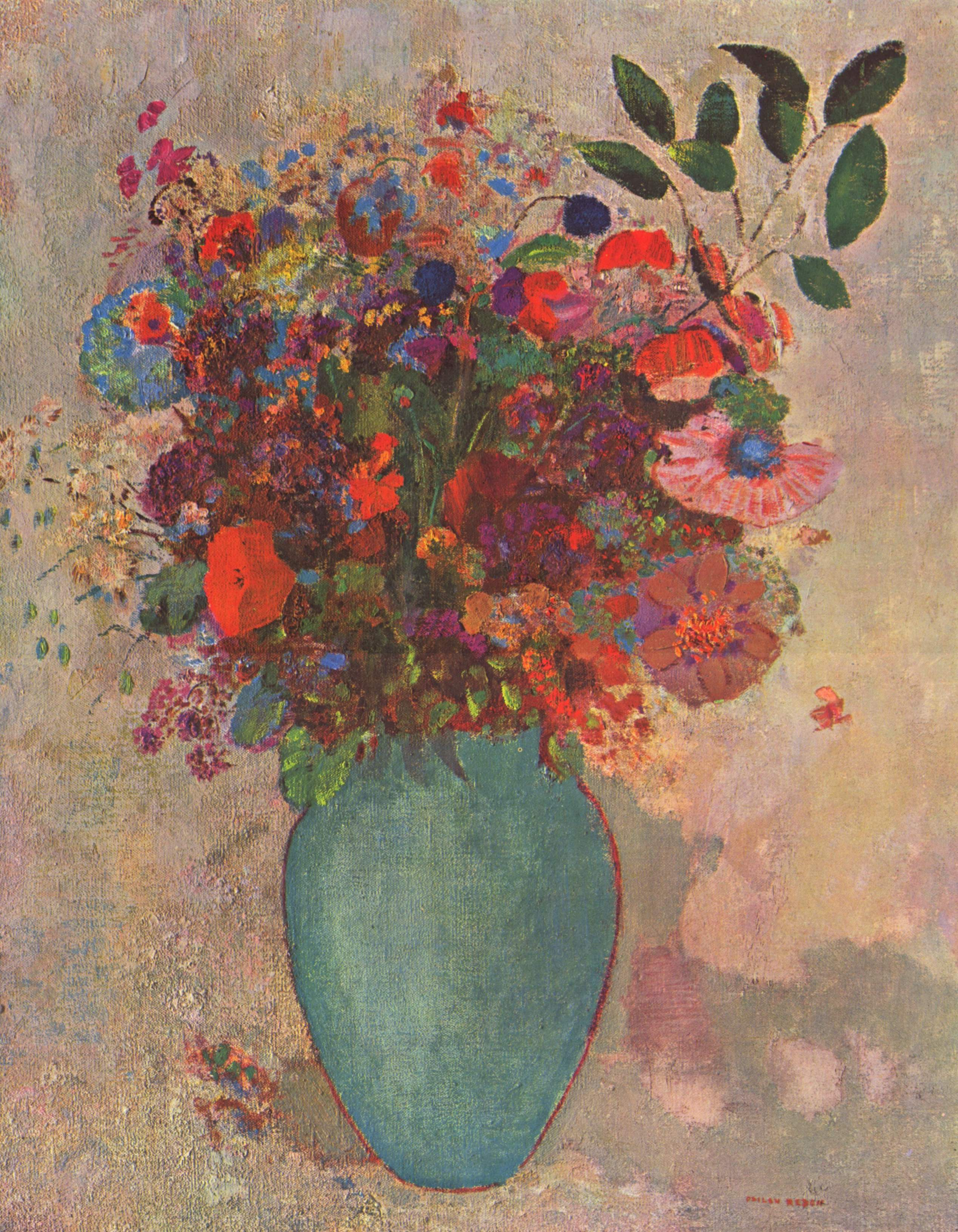 The Turquoise Vase by Odilon Redon