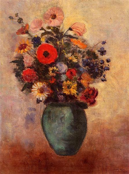 Vase of Flowers, c.1904 - Odilon Redon