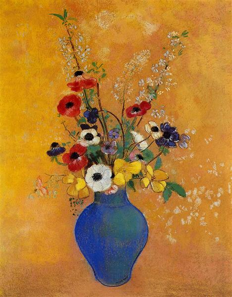 Ваза з квітами - Редон Оділон