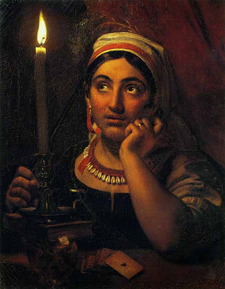 Fortune-teller With A Candle