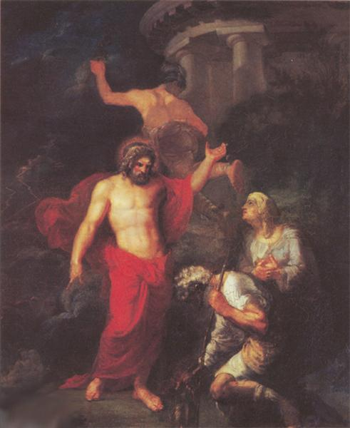 Jupiter and Mercury, in the form of visiting pilgrims Philemon and Baucis, 1802 - Orest Kiprensky
