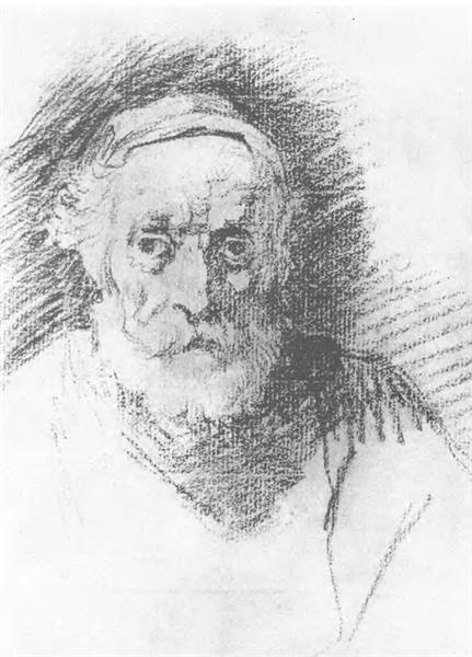 The old man's head, 1807 - Orest Kiprensky