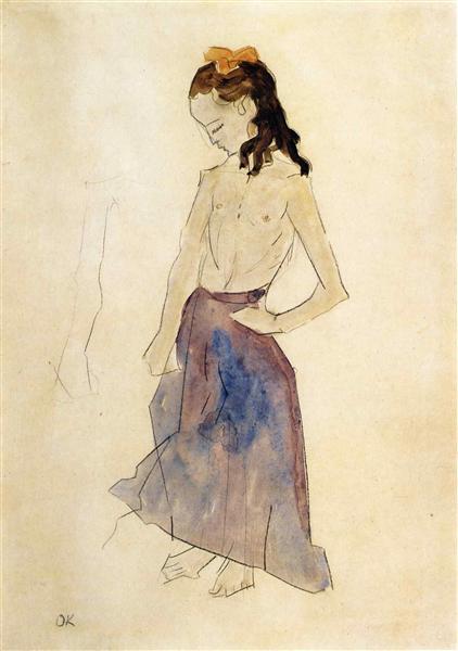 Girl with a Yellow Headband, 1908 - 1909 - Oskar Kokoschka